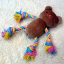 ポンポリース ソフトロープTOY うさくま ブラウン【おもちゃ】【犬猫用品】【ぬいぐるみ】【デンタルケア】
