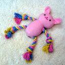 ポンポリース ソフトロープTOY うさくま ピンク【おもちゃ】【犬猫用品】【ぬいぐるみ】【デンタルケア】