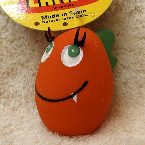 ランコ (LANCO) 恐竜タマゴ オレンジ 【犬のおもちゃ】【ラテックス】【DADWAY】