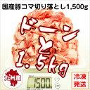 【九州産・国産】豚コマ切り落とし約1.5kg(500g×3P) 豚小間/こま切れ/切落とし/冷凍/豚肉/