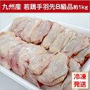 【九州産・国産】若鶏手羽先B級品約1kg/とり肉/訳あり/ワケあり/キズ有り/冷凍/テバサキ/