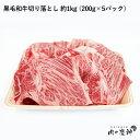 【国産・九州産】 黒毛和牛切り落とし 約1kg (200g×5パック) 冷凍/数量限定/BBQ・焼き肉・すき焼き・しゃぶしゃぶ…