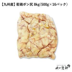 【国産・九州産】 若鶏ボン尻 8kg(500g×16パック) とり肉/冷凍/わかどり/希少部位/レア部位/人気/