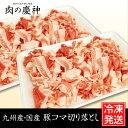 【九州産・国産】豚コマ切り落とし約1kg(500g×2パック) 豚小間/こま切れ/切落とし/冷凍/豚肉/