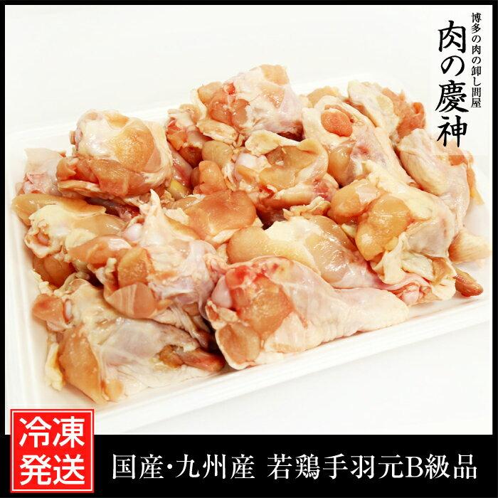 【国産・九州産】 若鶏手羽元B級品 500g とり肉/訳あり/ワケあり/キズ有り/冷凍/テバ/手羽もと/