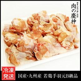 【国産・九州産】若鶏手羽元B級品約1kg(500g×2パック)とり肉/訳あり/ワケあり/キズ有り/冷凍/テバ/手羽もと/