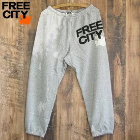 送料無料 FREE CITY フリーシティ ブリーチアウトヘザー スウェットパンツ BLEACHOUT superfluff OG