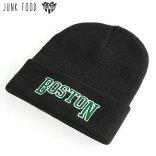 JUNKFOODジャンクフード/BOSTONボストン/Beanieニットキャップ帽子