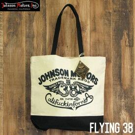 ジョンソンモータース キャンバス トートバッグ Johnson Motors Flying 38