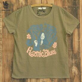 JUNK FOOD ジャンクフード kosmic blues ジャニス ジョプリン レディース ゆったり Tシャツ