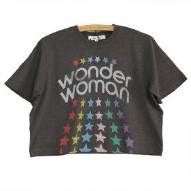 JUNK FOOD ジャンクフード ワンダーウーマン レディース クロップド Tシャツ WONDER WOMAN STARS CROPPED TEE