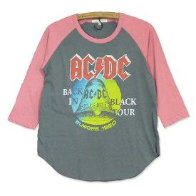 JUNK FOOD ジャンクフード : AC/DC : レディース 七分袖 ラグラン Tシャツ