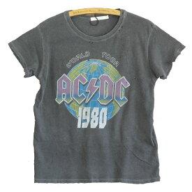 JUNK FOOD ジャンクフード AC/DC 1980 レディース Tシャツ