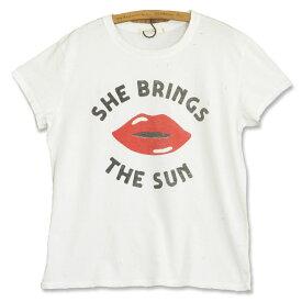 JUNK FOOD ジャンクフード She Brings The Sun レディース ダメージ Tシャツ