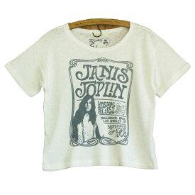JUNK FOOD ジャンクフード Janis Joplin ジャニス ジョプリン レディース ショート丈Tシャツ