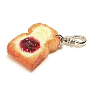 食品サンプル屋さんのファスナーフレンド ブルーベリージャムトースト