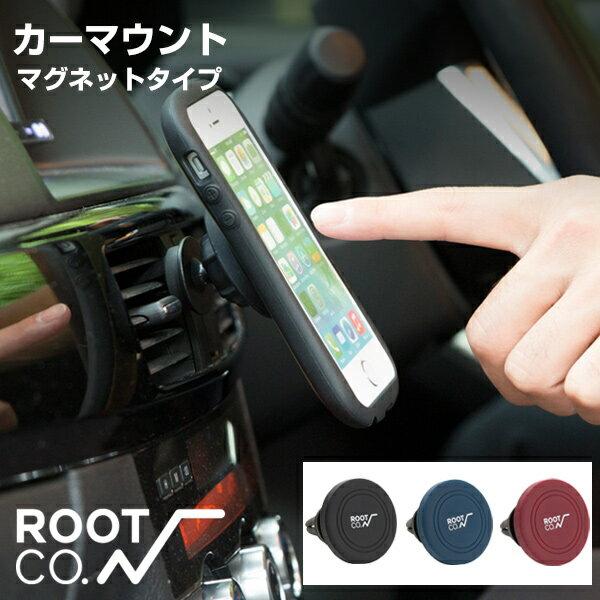 ROOT CO. 車載ホルダー PLAY Car Mount カーマウント 【 iphone マグネット 車載 スマホ スタンド ホルダー 車 エアコン 】
