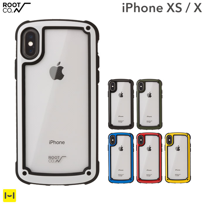 ROOT CO. iphone x iphone xs ケース カバー Gravity Shock Resist Tough & Basic Case. 【 iphonexs iphonex アイフォンxs アイフォンx ケース アイフォンxケース 耐衝撃 ハードケース クリア 透明 スマホケース iPhoneケース 】