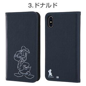 [iPhoneX専用]ディズニー手帳型ケースワンポイントタイプ(ホットスタンプ)