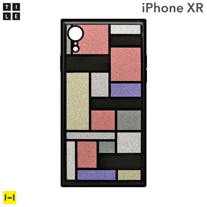 iphone xr ケース EYLE TILE iPhoneケース スクエア (ステンドグラス/ ピンク ) 【 アイフォンxrケース アイフォンxr iphonexr ケース カバー おしゃれ かわいい パステル ハードケース スマホケース iPhoneケース 】