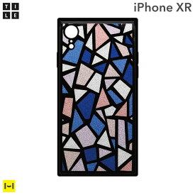 iphone xr ケース EYLE TILE iPhoneケース スクエア (ステンドグラス/ ブルー ) 【 アイフォンxrケース アイフォンxr iphonexr ケース カバー おしゃれ かわいい パステル ハードケース スマホケース iPhoneケース 】