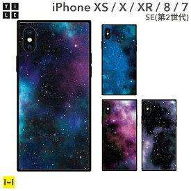 iPhone XS iPhoneX iPhoneXR スマホケース カバー EYLE スクエア型 iPhoneケース TILE(宇宙)【タイル おしゃれ かわいい 携帯ケース 四角 アイフォンXR アイフォンテン】