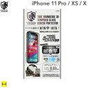 iPhone11 Pro iphoneXS X アイフォン11プロ iphone11pro クリスタルアーマー 3D曲面形状 DLC加工 耐衝撃強化ガラス 0.33mm【画面保護 シート iphone