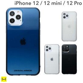 iPhone12 iPhone12Pro クリスタルアーマー HEXAGON クリア 【 スマホケース スマホカバーiphone12 iphone12pro アイフォン 12 pro ケース iphoneケース アウトドア ストラップホール カード収納 】