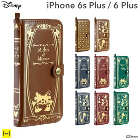 iPhone 6 Plus iPhone6sPlus ケース ディズニー Old Book Case 【 スマホケース iphone6plus ケース 手帳 手帳型ケース カバー 手帳型 キャラクター 洋書風 アイフォン6プラス レザーケース iPhoneケース ディズニーグッズ 】
