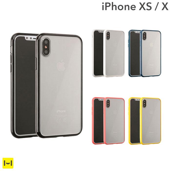 iphone x iphone xs ケース サイドカラード クリア ハイブリッド 【 スマホケース iphone x iphone xs ケース アイフォンX アイフォンXs iphone xs カバー 10 透明 ハードケース iPhoneケース 】