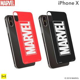 iphone x ガラスフィルム 背面 MARVEL マーベル プレミアム ガラス 9H 強化ガラス 背面保護シート0.33mm 【 背面保護 フィルム 背面ガラスフィルム アイフォンX iphone x フィルム 裏面 保護フィルム 】