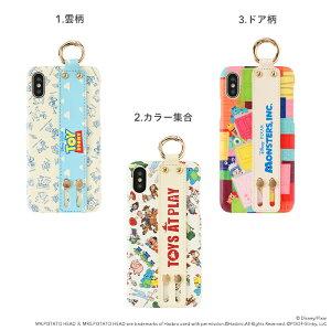[iPhoneXS/X専用]ディズニー/ピクサーキャラクターeastyバンド付きハードケース