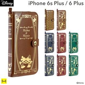 名入れ iPhone6s Plus iPhone6 Plus ケース ディズニー Old Book Case 【 スマホケース 手帳 iphone 6 plusケース iphone6splus ケース カバー 手帳型 レザー iphone6s plus 手帳 iphone6plus 手帳型ケース 洋書風 アイフォン6 プラス プレゼント ディズニーグッズ 】