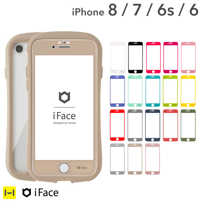 iFace iPhoneXR iPhoneXSMax iPhone8Plus iPhone7Plus ガラスフィルム Round Edge Color Glass Screen Protector ラウンドエッジ 強化ガラス【液晶保護シート アイフォン アイフェイス 全面保護シート カラフル 可愛い おしゃれ アイフォンXR ガラスフィルム】