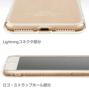 [iPhone7Plus専用]HighendBerryオリジナルソフトTPUケースストラップホール付き(クリア)