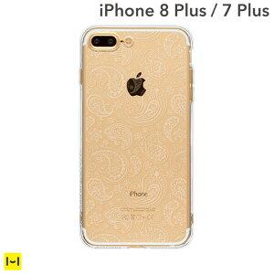 [iPhone7Plus専用]HighendBerryオリジナルソフトTPUケースストラップホール付き(ペイズリー)