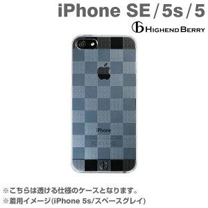 [iPhone5s/5専用]HighendBerryオリジナルクリアハードケース(チェッカード)