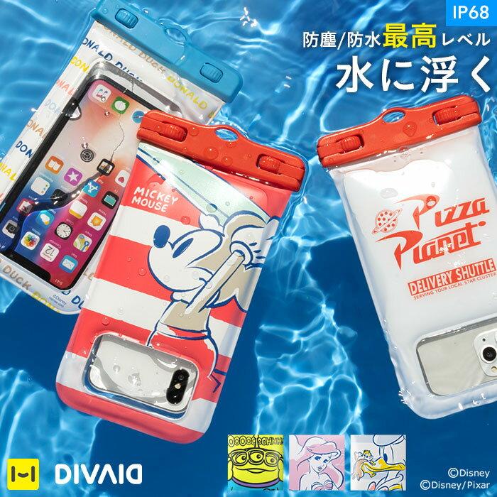 ディズニー スマホ 防水ケース DIVAID フローティング防水ケース IP68 5.8インチ対応 【 スマホケース iPhone7 iPhone6 iphone 防水 ケース 完全防水 】