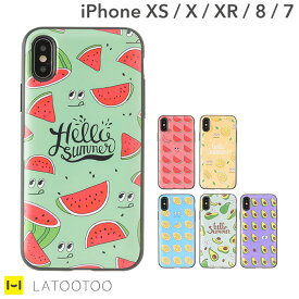 iPhone XS/X/XR iphone7 iphone8 ケース Latootoo カード収納 ミラー 付き iPhoneケース (HELLO SUMMER) 【 アイフォン8ケース スマホケース アイフォン7 アイフォン8 ケース おしゃれ かわいい ハードケース ミラー 鏡付き 韓国】