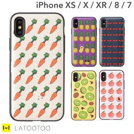 iphone xr iphone xs アイフォン8 iphone7 アイフォン7 ケース Latootoo カード収納 ミラー付きiPhoneケース【背面 スマホケース iphone8ケース 韓国 定期 非手帳型 ハードケース 背面収納 背面ポケット 】