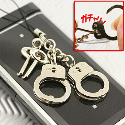 ミニ手錠携帯ストラップ(AMST-1)【バッグや財布にもGOOD】