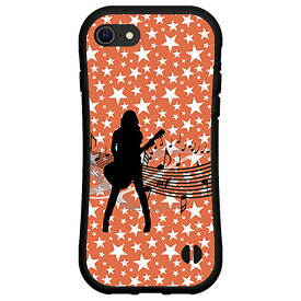 液晶保護フィルム付 iPhone 7アイフォン セブンdocomo au SoftBank落としても割れにくい驚きの衝撃吸収力豊富なオリジナルデザイン耐衝撃 ハイブリッドケースギターガール