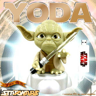 Face turns red, glowing lightsaber! USB YODA (Yoda) 0940