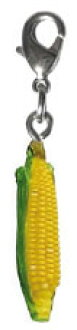 Vegetable miniature mascot () with the corn (skin)