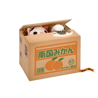 Mischievous BANK money box みけねこ