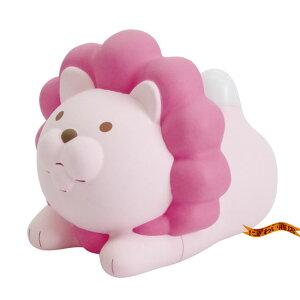 ライオンのおしゃべり温湿度計 らいおん計 ( Pk / ピンク 温度計 & 湿度計 )