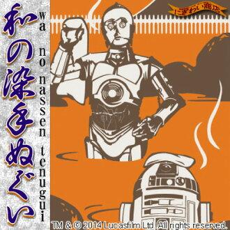 在日本,纺织品的手毛巾春天-R2-D2/C-3PO) [浴巾和毛巾]