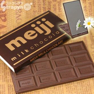 明治巧克力 (牛奶巧克力型) 真正 チョコソックリ 巧克力镜子 ☆ 的一面镜子