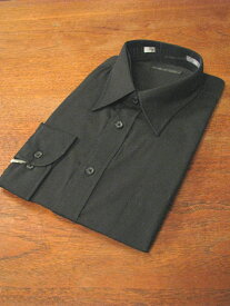 黒無地ワイシャツ 長袖 レギュラー