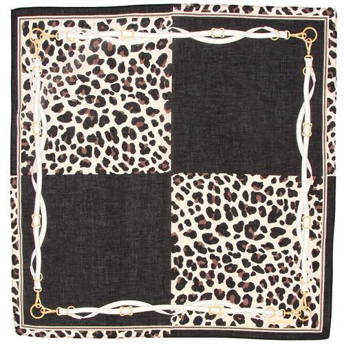 ピンキー&ダイアン ガーゼハンカチ 豹×ベルト柄 1袋(同色3枚入) 110-764